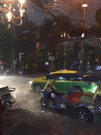 one rainy night in Bangkok.
